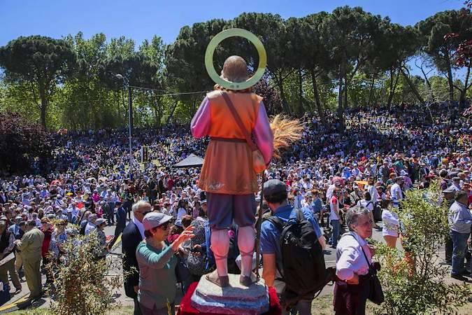 La Pradera de San Isidro durante la celebración del Santo