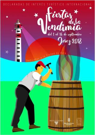 Cartel de las Fiestas de la Vendimia 2018 en Jerez de la Frontera