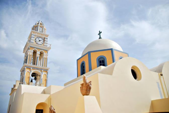 Catedral Católica de Fira, en Santorini