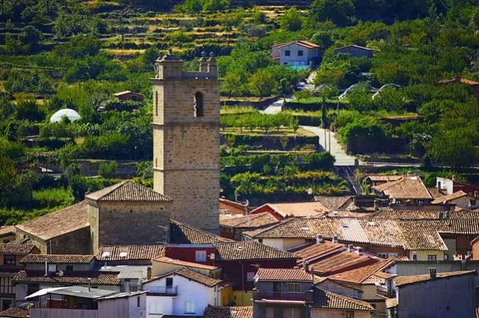El bello pueblo de Garganta la Olla, en Cáceres