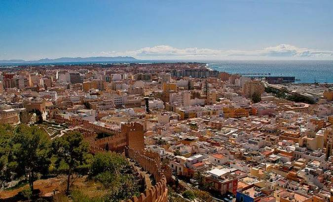 Vista panorámica de Almería