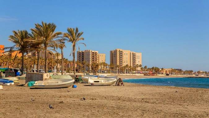 Playa de San Miguel-El Zapillo, en Almería