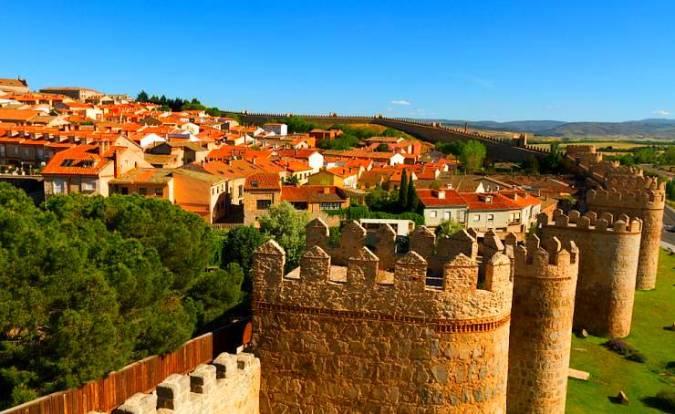 La ciudad de Ávila, en Castilla y León
