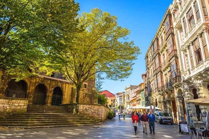 La ciudad de Avilés, en Asturias