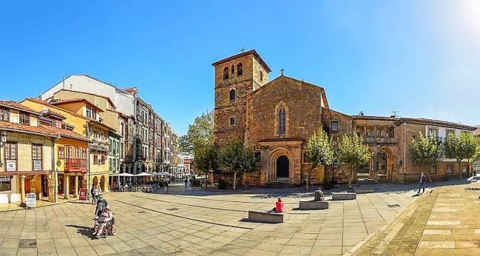 Casco histórico de Avilés, en Asturias