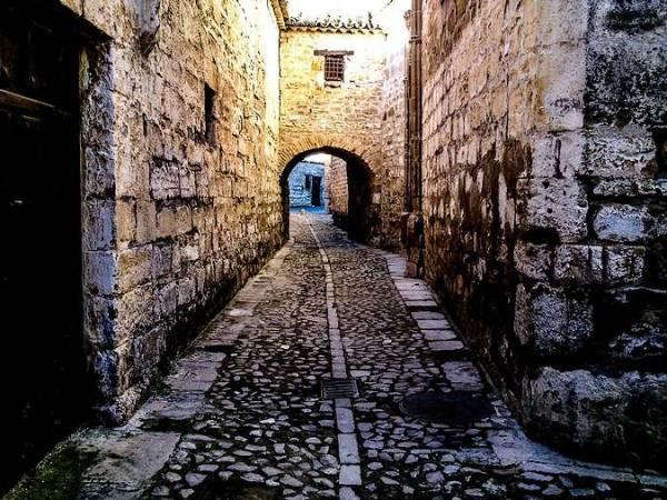 Una calle de Baeza, en Jaén
