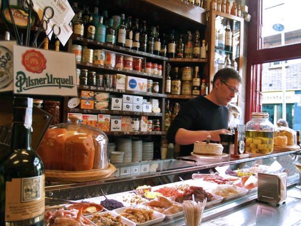 Bar de tapas Quimet i Quimet, en Barcelona