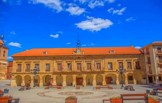 Plaza Mayor de Benavente, en Zamora