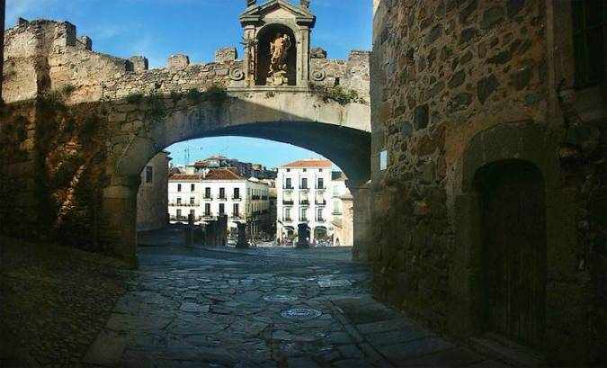 Arco de la Estrella, en Cáceres