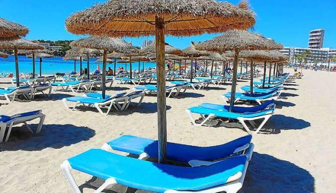 Playa de Magaluf, en Calvià, Mallorca