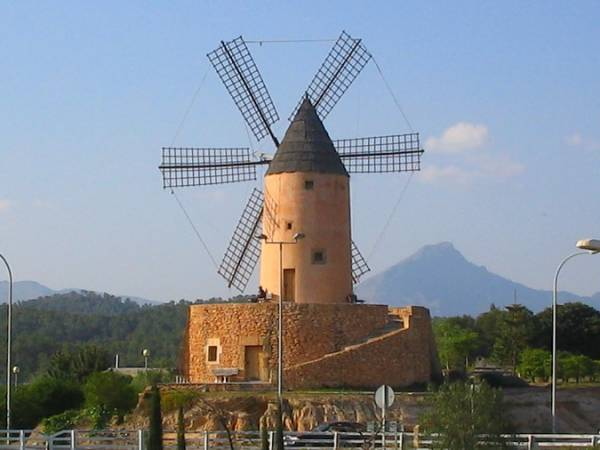 Molino de Santa Ponça, en Calvià, Mallorca