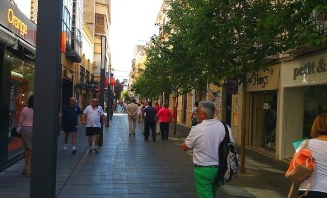 Centro Comercial Abierto Menacho, en Badajoz