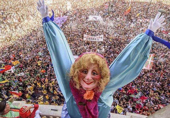 La Marijaia en fiestas de Bilbao