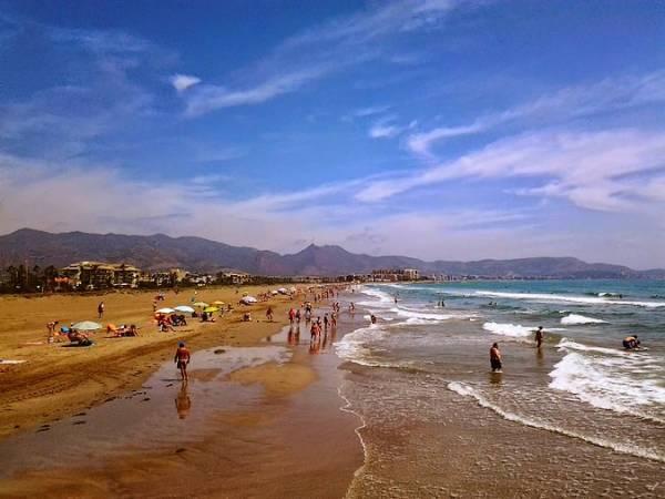 Playa en la ciudad de Castellón