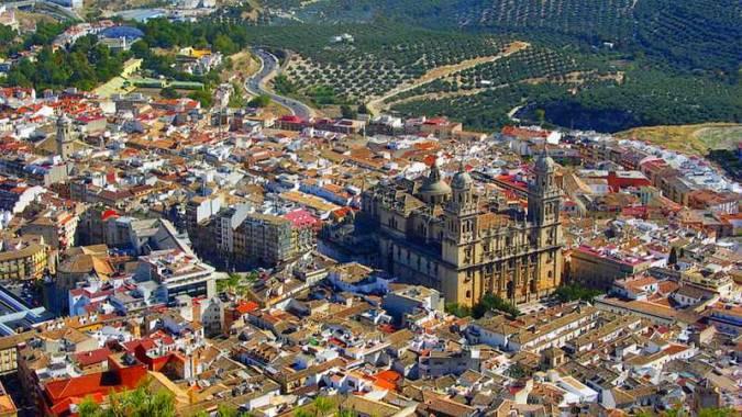 La ciudad de Jaén, en Andalucía