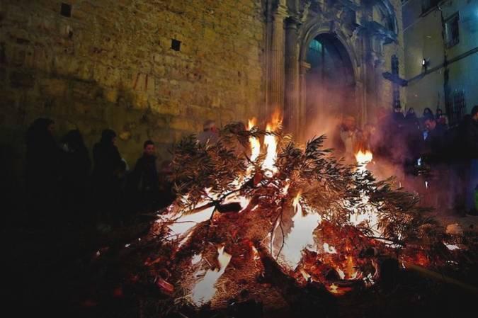 Lumbres de San Antón, en Jaén
