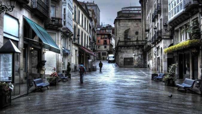 Casco histórico de Ourense, en Galicia