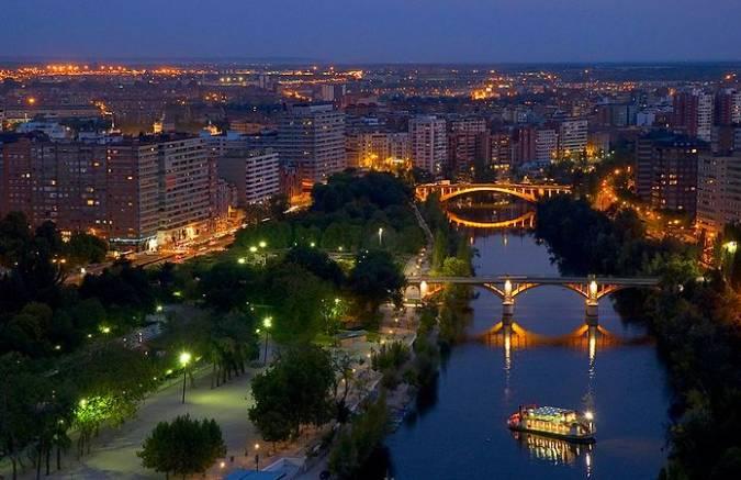Vista nocturna de Valladolid