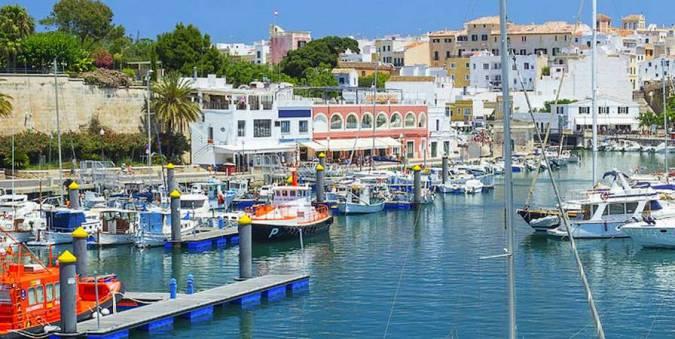 Puerto de Ciudadela, en Menorca