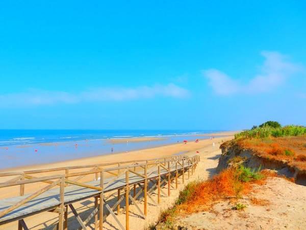 Playa de la Ballena, en Costa Ballena, Cádiz