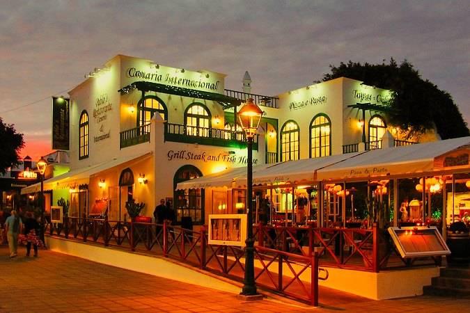 Restaurante en el Pueblo Marinero, en Costa Teguise, Lanzarote