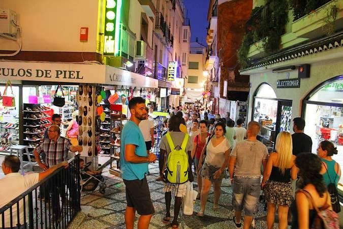 Calle Real, en Almuñécar, Granada