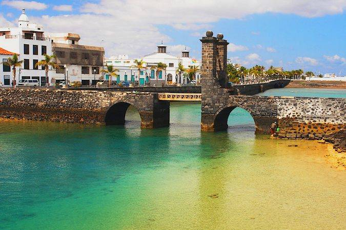 Puente de las Bolas, en Arrecife, lanzarote