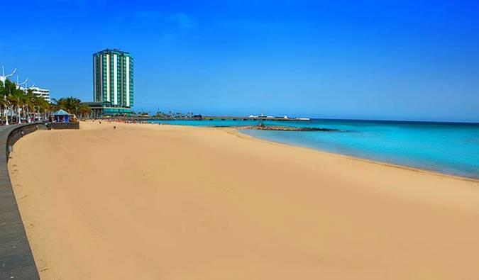 Playa El Reducto, en Arrecife, Lanzarote