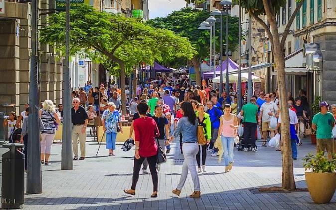 Calle León y Castillo, en Arrecife, Lanzarote
