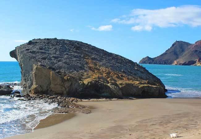 Playa de Mónsul en Almería