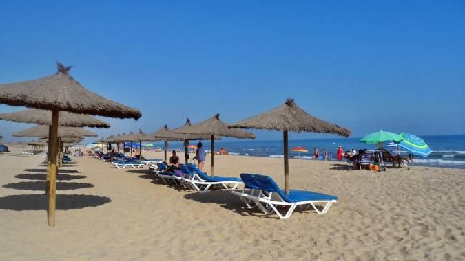 Playa Central de Isla Cristina, en Huelva