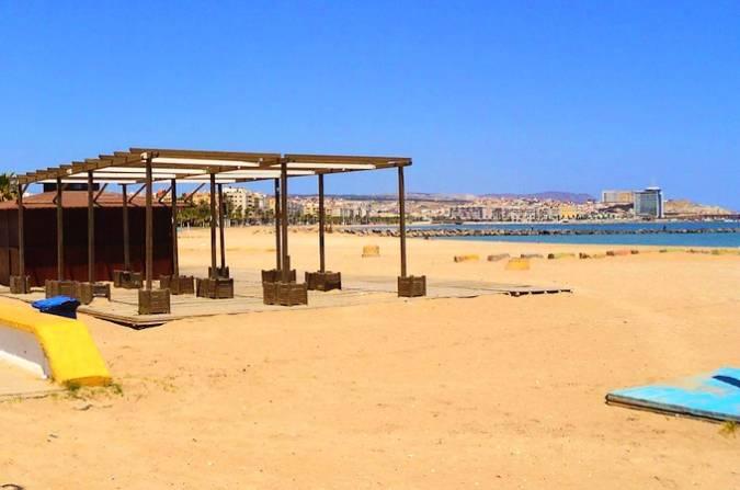 Playa de la Hípica, en Melilla