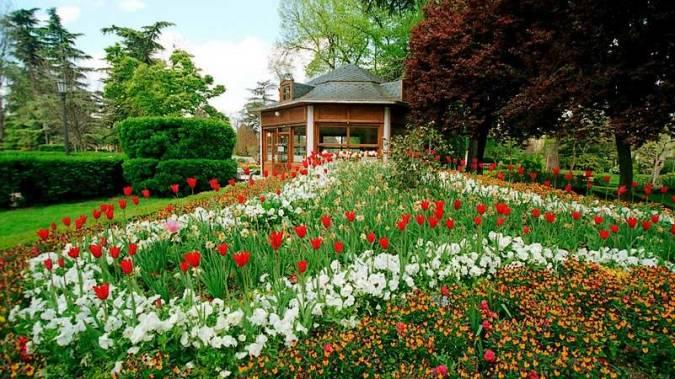 Jardines del Parque de la Taconera, en Pamplona