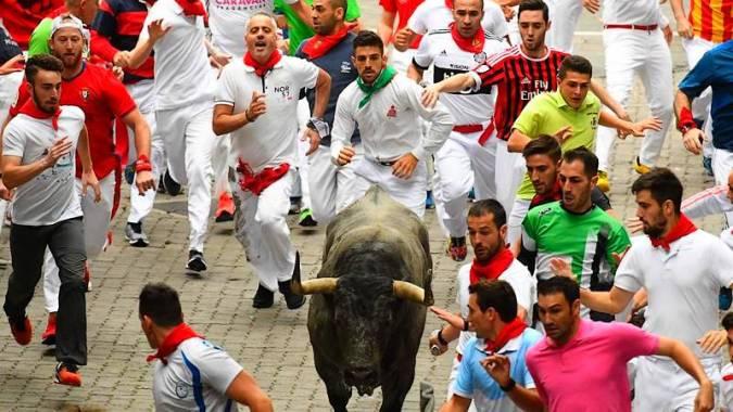 Corrida en San Fermín, Pamplona