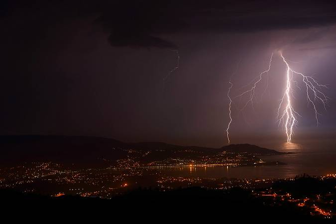 Tormenta nocturna en Vigo