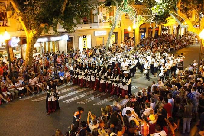 Fiesta de Moros y Cristianos en Denia