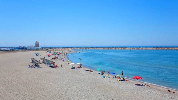 Playa Levante Almerimar, en El Ejido, Almería