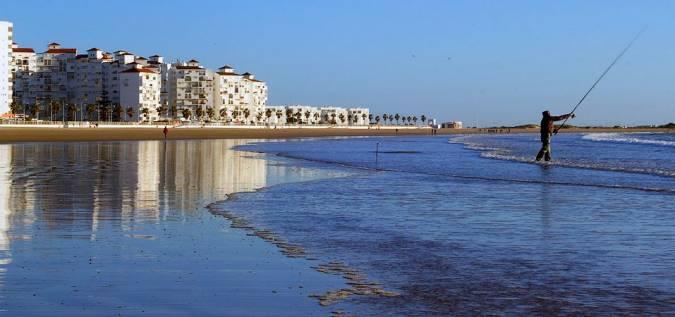 Playa de Valdelagrana, en El Puerto de Santa María, Cádiz