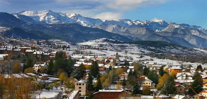 La localidad de Alp, en Girona