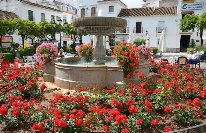 Plaza delas Flores, en Estepona