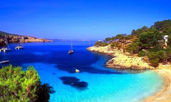 Cala Vadella, en Ibiza