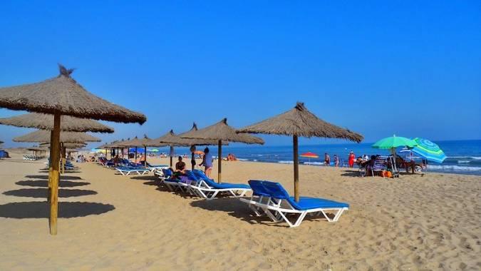Playa Central, en Isla Cristina, Huelva