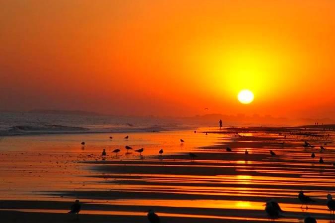 Puesta de sol en Isla Cristina, Huelva
