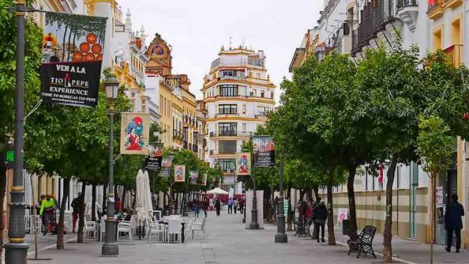 Calle Larga de Jerez de la Frontera