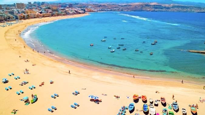 Playa de las Canteras, en Las Palmas de Gran Canaria