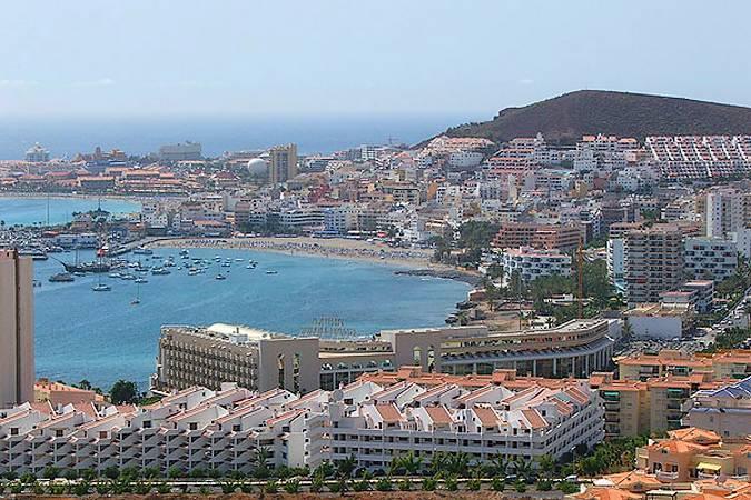 Panorámica de Los Cristianos, en Tenerife