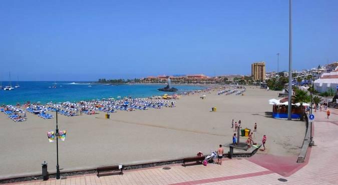 Playa de Las Vistas, en Los Cristianos