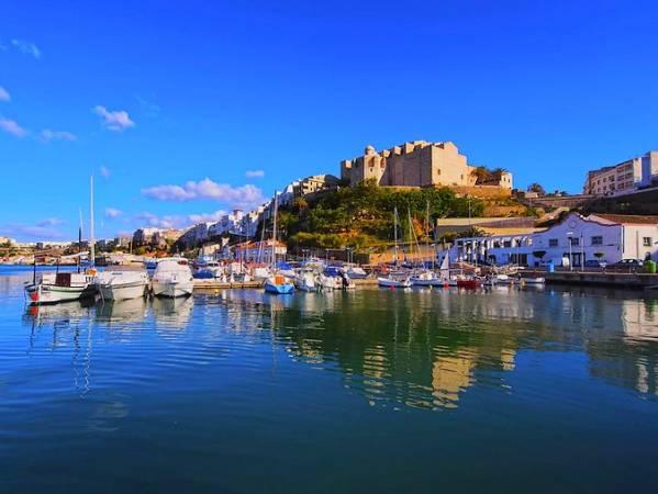 Puerto de Mahón, en Menorca