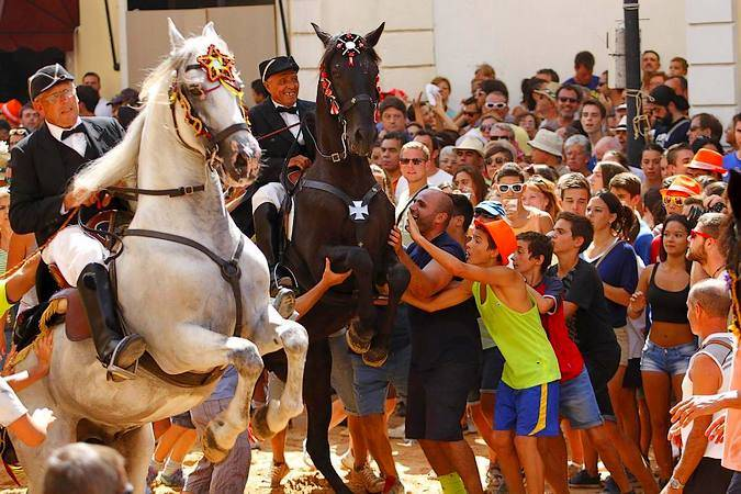 Jaleo en las Festes de la Mare de Deu de Gràcia, en Mahón