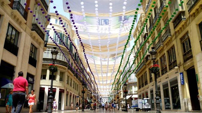 La comercial calle Larios, en Málaga